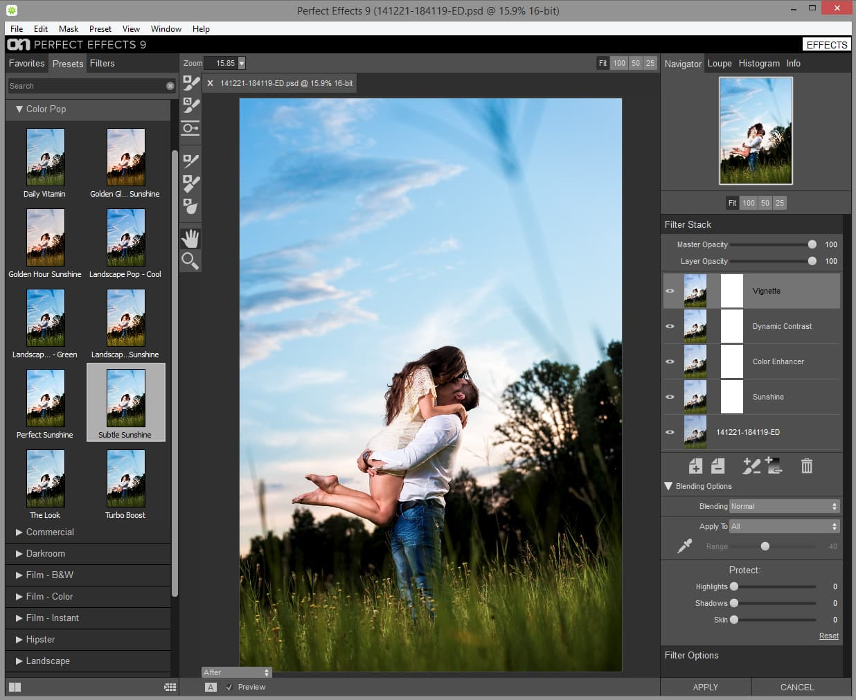 Perfect effects 9 by on1 software free to download via Free photo software