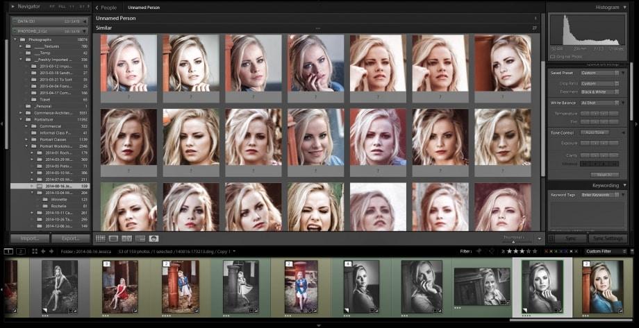 Lightroom CC Face Detection