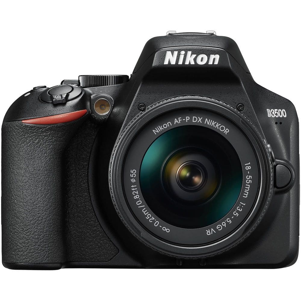 nikon d3500 from the front