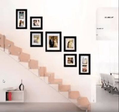 How to hang photo frames creatively
