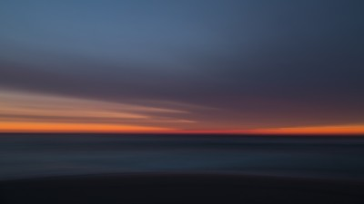 blurry impressionistic seascape by Johan Pieters