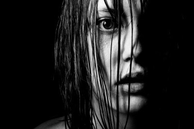 striking black and white moody portrait by ashleigh pienaar