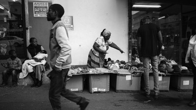 street vendors selling their wares in east london, eastern cape.
