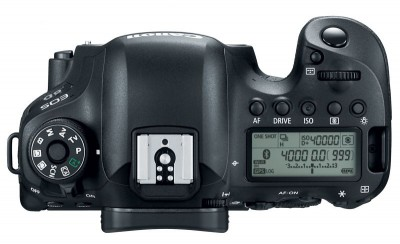 the canon eos 6D mark ii from the top