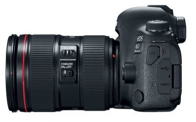 the canon eos 6d mark ii from the side