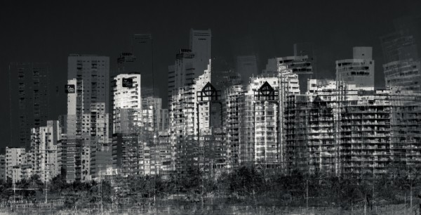 abstract cityscape by caleb dredge
